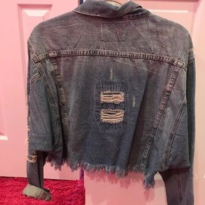 CARMAR oversized cropped denim jacket